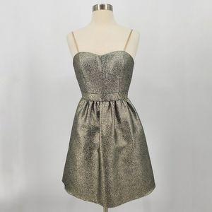 Aidan Mattox Metallic Strapless Mini Dress sz 0
